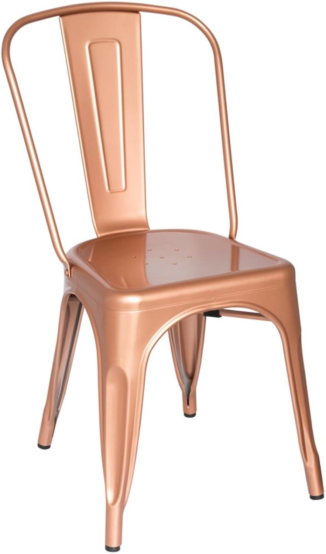 Fine Mod Imports Talix Chair, Copper Galvanized Steel Contemporary Modern