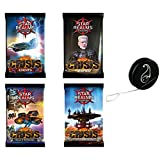 Lot Booster Star Realms Crisis VF: Evènements + Héros + Bases et vaisseaux + Flottes et Bastions + 1 Yoyo Blumie