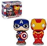 Salt and Pepper Pop Home Marvel Capitan America Iron Man...