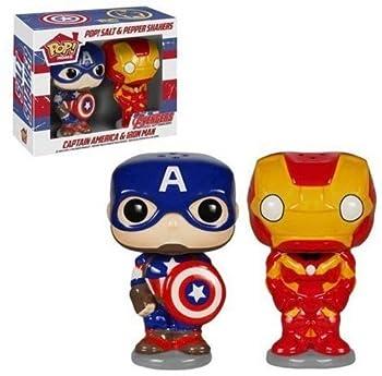 POP Marvel Salt N  Pepper Shakers - Captain America Iron Man