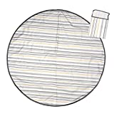 Product Image of the Prince Lionheart Multi-Purpose Catchall, Round Splat Mat, Gray Stripe, Great for...