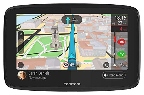 TomTom GO 520 5-Inch GPS Navigation Device with Free Lifetime Traffic & World Maps, WiFi-Connectivity, Smartphone Messaging, Voice Control and Hands-Free Calling (Renewed)
