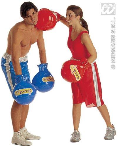 WIDMAN Guantes de Boxeo - inflables - Adultos de Disfraces - Rojo