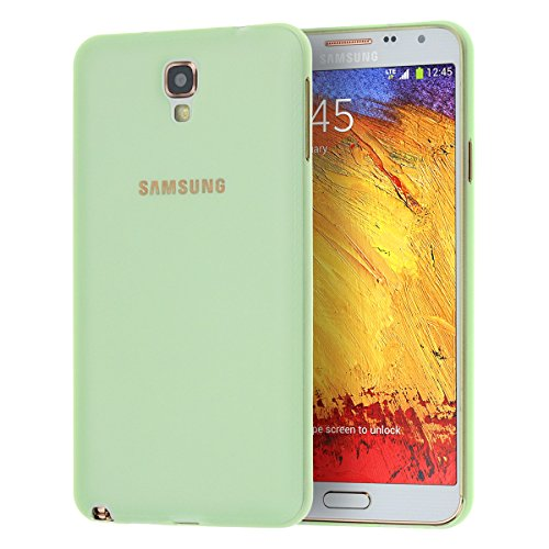 doupi UltraSlim Custodia per Samsung Galaxy Note 3 Neo, Satinato fine Piuma Facile Mat Semi Trasparente Cover, Verde