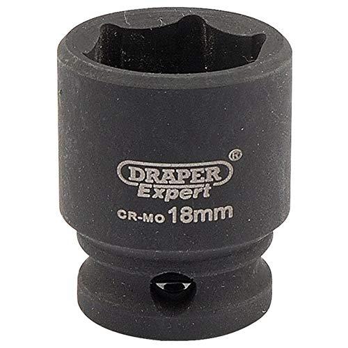 Draper Tools 409-MMC Expert Square Drive Hi-Torq - Llave de vaso de impacto (6 puntos), azul, 18 mm