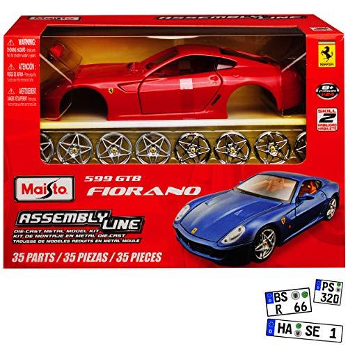 Ferrari 599 GTB Fiorano Normal Rot 2006-2013 39274 Bausatz Kit 1/24 Maisto Modell Auto