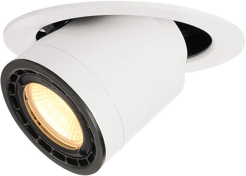 SLV 116321 SUPROS MOVE 78 Deckeneinbau- leuchte, rund, weiss, 3000K, 60° Linse