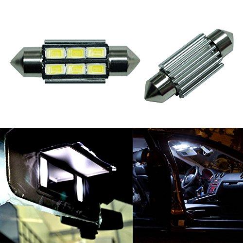 PA Lot de 4 ampoules navette LED SMD 5630 5730 SMD DC 12 V Blanc 6411 6413 6418 C5W