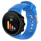 Yikamosi Compatible con Suunto Spartan Ultra Correa,liberación rápida Silicona Suave Cierre de Acero Inoxidable Correas de Repuesto para Suunto Spartan Ultra GPS Smart Watch,Azul