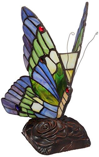 Chloe Lighting CH09B221NL 5-Inch Wide 1-Light Tiffany-Style Butterfly Light