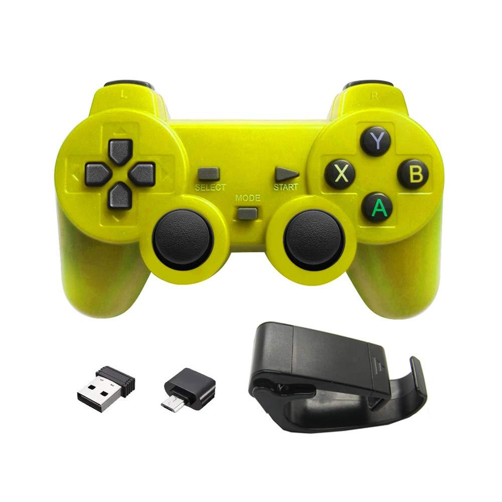Aubess - Mando inalámbrico para juegos (compatible con smartphones Android + Windows, Samsung, PC, PS3, TV Box) amarillo amarillo Type-c: Amazon.es: Electrónica