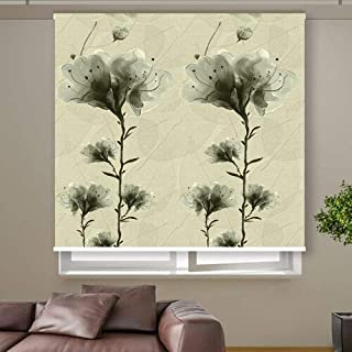 3D Roller Curtain Flowers 200 * 200 cm 9952