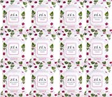 ZEA Facial Wipes | Infused with Rose Hip Essential Oil | Alcohol and Paraben Free | 30 Wipes Per Package | 12 Count