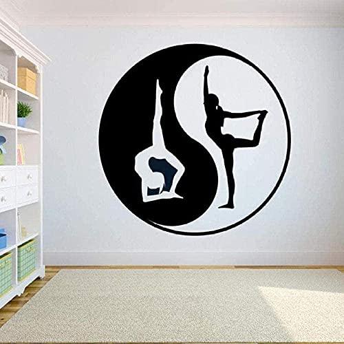 Adesivi Murali Yoga Decalcomania Da Muro Logo Hindu Art Vinyl Interior Design Decor Camera Da Letto...