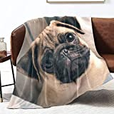 Custom Blanket with Picture, Personalized Throw Photo Printing Soft Flannel Blanket for Pets Family Friend Birthday Gifts and Wedding Gifts (50'X60', 1 Photos)