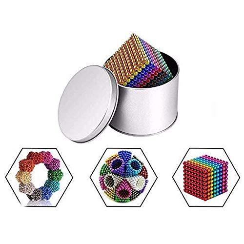WXPE Mágico Pequeña Bola Creativa Cubo de Mágico Rompecabezas Bola, 1000 Piezas 5 mm Juguetes de Bricolaje Bloques de construcción para le Desarrollo Aprendizaje y Alivio del estrés Juguetes