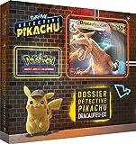 Un coffret dédié à la sortie du film détective Pikachu Des cartes réalisées spécialement à l'occasion du film ! Un mini booster avec 4 cartes argentées utilisables en tournoi A partir de 6 ans
