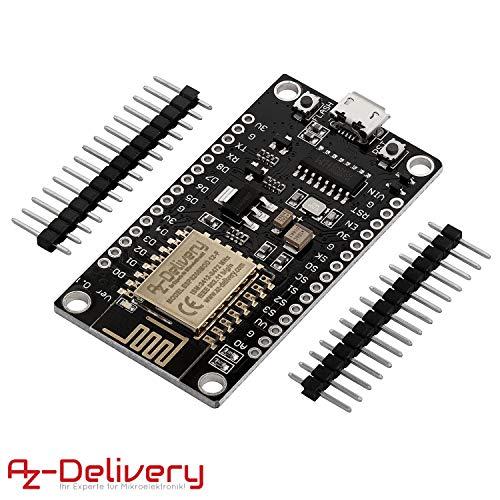 AZDelivery Módulo WiFi NodeMCU Lua Lolin V3 ESP8266 ESP-12E WiFi Placa de Desarrollo Not soldered con CH340 para Arduino