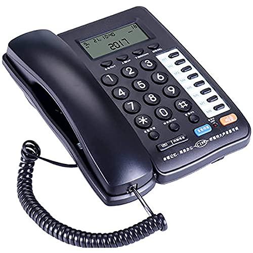 ZARTPMO Teléfono Fijo Teléfono Fijo Teléfono con Cable con Identificador De Llamadas Línea Fija De Pantalla Azul Marcación De 8 Números De Memoria Se Puede Montar En La Pared