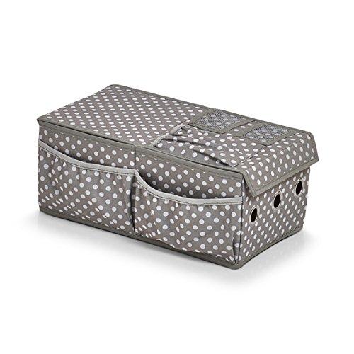 Zeller 14662 Geschenkverpackungs-Organizer, ca. 36.1 x 20 x 15 cm, grau, Polyester
