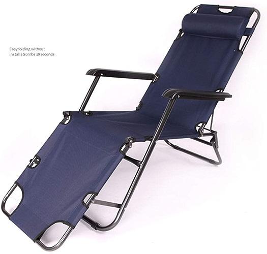 Mai bed Chaise Longue de Bureau, lit Se Pliant Simple portatif extérieur, lit d'accompagnement de lit de Siesta