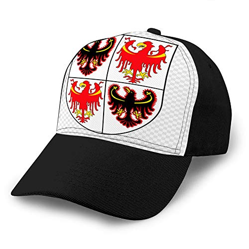 hyg03j4 Estilo Unisex Strapback Sombrero Gorra de béisbol Emblema Provincia de Italia Sombrero de algodón