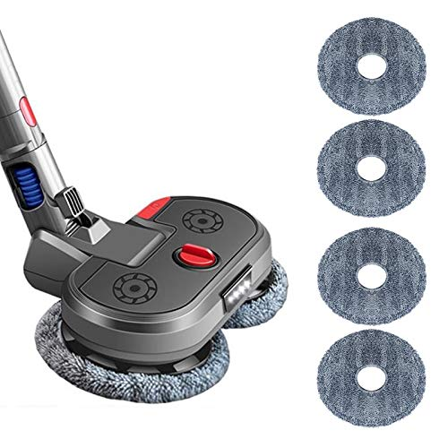Electric Mop Head Attachment Mop Cleaning Head for Dyson Wireless Stick Vacuum Cleaner V7 V8 V10 V11 Models(Matte Gray)