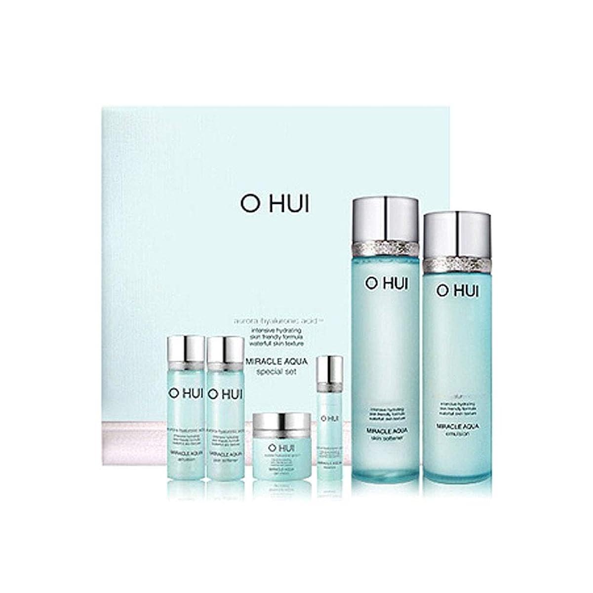 あいにく知性動機付けるオフィミラクルアクアスキンソフナーエマルジョンセット韓国コスメ、O Hui Miracle Aqua Skin Softener Emulsion Set Korean Cosmetics [並行輸入品]