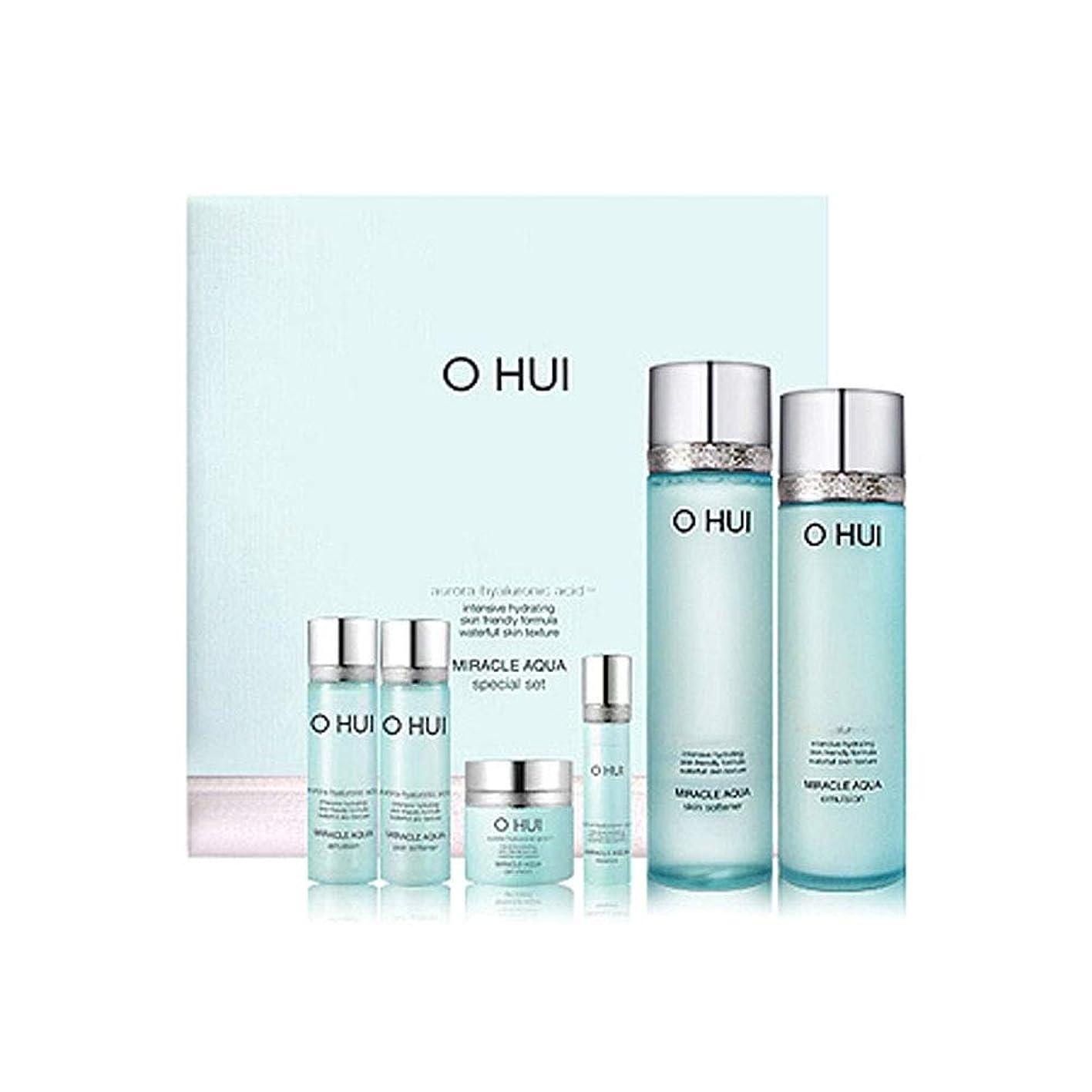 せせらぎ爆弾まっすぐオフィミラクルアクアスキンソフナーエマルジョンセット韓国コスメ、O Hui Miracle Aqua Skin Softener Emulsion Set Korean Cosmetics [並行輸入品]