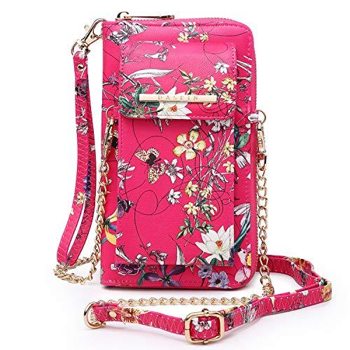 Dasein Designer Fashion Messenger Crossbody Bag Chain Wallet Cellphone Purse Wallet Bag