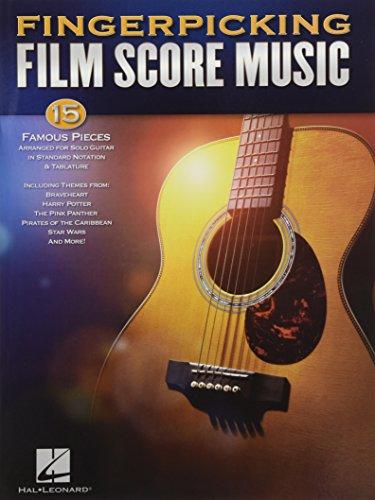 Fingerpicking Film Score Music: Noten, Sammelband für Gitarre: 15 Famous Pieces Arranged for Solo Guitar in Standard Notation & Tablature (Guitar Solo)