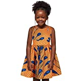 KpopBaby Girls 2 Piece Boho African Floral Dress Jacket Coat Mini Skirt Outfit Set Spring Winter Clothing Sleeveless Sloping Wax Summer Party Print Style Dress