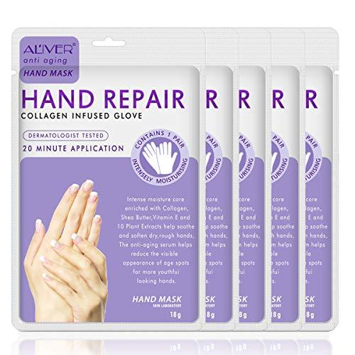 Hand Peel Mask 5 Pack, Moisturizing Gloves, Moisture Enhancing Gloves for Dry Hands, Moisturizes Rough Skin for Women or Men
