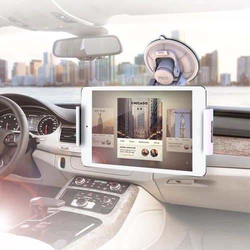 IBRA Windscreen in Car Suction Mount Holder with Full 360 Degrees Rotation for Apple ipad 1/2/3 3rd gen (Wi-Fi and Wi-Fi + 3G) 16GB 32GB 64GB Also Suitable for All e-Pads Like BlackBerry,Samsung Etc