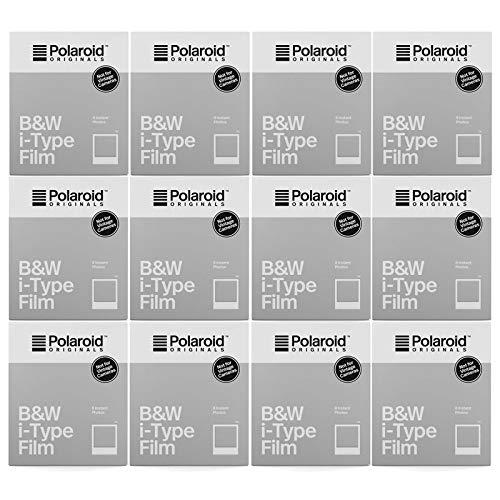【国内正規品】 Polaroid Originals インスタントフィルム B&W Film for I-TYPE モノクロフィルム 8枚入り 12個セット 4669