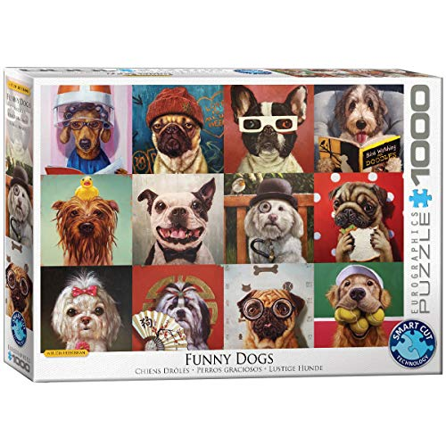 EuroGraphics Funny Dogs by Lucia Heffernan 1000-Piece Puzzle