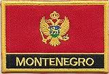 1000 Flags Aufnäher Montenegro Flagge, bestickt, rechteckig, zum Aufnähen oder Aufbügeln