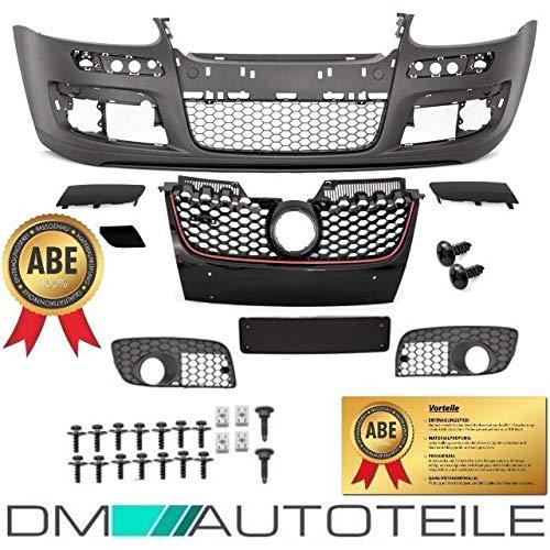 DM Autoteile Golf 5 V Stoßstange Vorne + Wabengitter für GTI +ABE + Montageset INCLUSIVE