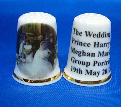 Birchcroft - Dedal Coleccionable de Porcelana China – Prince Harry & Meghan...