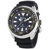 Seiko sun021p1 - Reloj para Hombres, Correa de Silicona Color Negro