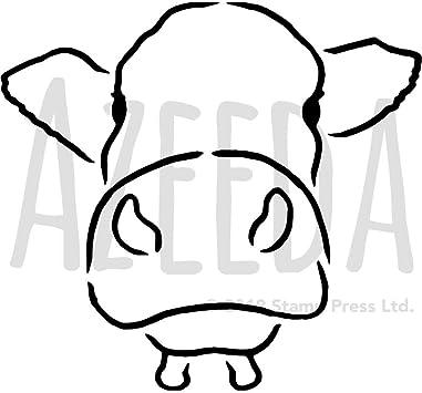 Bastelideen Info Kuh Malvorlage Oder Bastelvorlage 9