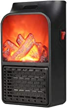 LBWLB Estufa Eléctrica Calefactor Mini Portátil Handy Heater Efecto de Llama 900W Bajo Consumo Temperatura Baño Casa Oficina - Negro