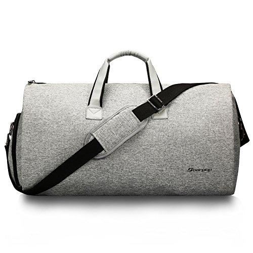 45L wasserdichte Anzugtasche 2-in-1 Kleidersack und Reisetasche Abnehmbare Umhängetasche Faltbare Tragetasche(H9983MGY)