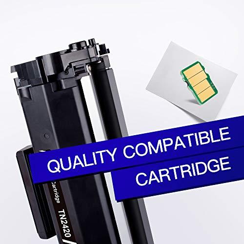 GPC Image TN2420 TN-2420 Cartuchos de tóner Compatible para TN2410 TN-2410 para Brother DCP L2510D L2530DW L2550DN, HL L2310D L2350DW L2370DN L2375DW, MFC L2710DN L2710DW L2730DW L2750DW (2 Negro)