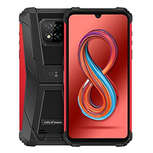 Ulefone Armor 8 Pro Rugged Smartphone Android 11, 6GB + 128GB, Octa-core Cellulari Antiurto, 6,1 Pollici Telefoni Impermeabili, 5580mAh, Supporta MicroSD da 1 TB, Fotocamera 16MP+8MP+5MP+2MP(Rosso)