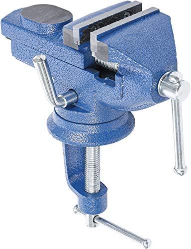 Kraftmann 3056 | Tisch-Schraubstock | mit Amboss | Backen 60 mm