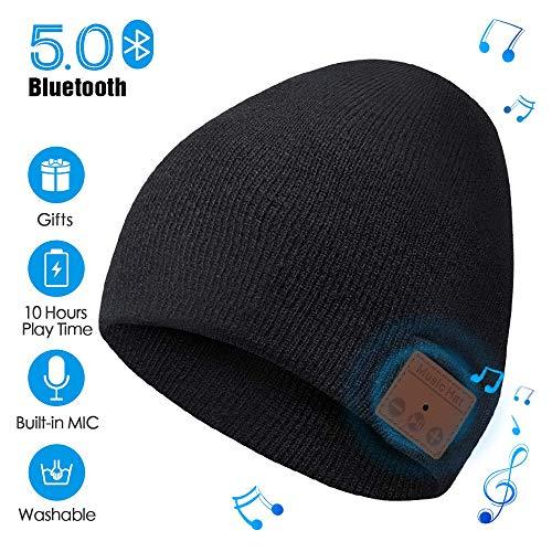 MANI Libere Bluetooth Lavabile Cappello Beanie per le chiamate /& Music-iPhone X XR XS Max