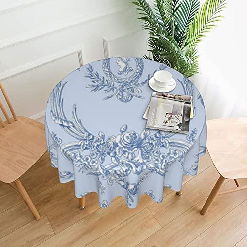 Nappe ronde Marie Blueberry - 152,4 cm - Résistante aux taches - Lavable - Nappe décorative pour cuisine et salle à manger