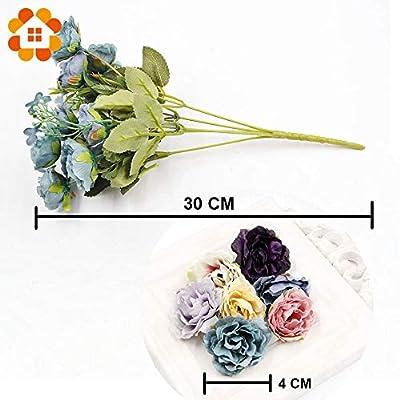 ShineBear 1Bouquet Artificial Flowers European Silk Rose Flower Decor Wedding Favors for DIY Home Garden Wedding