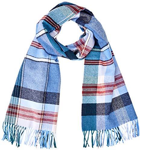 GANT Damen D2. CHECK WOOL SCARF Schal, Blau (Vintage Blue 442), (Herstellergröße: One Size)